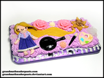 Rapunzel 3DS XL Case by GrandmaThunderpants
