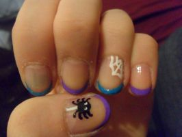 French-tip halloween nails by JennyBean4u