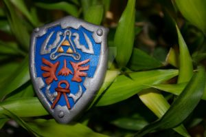 Legend of Zelda: Polymer clay shield by Nightingate