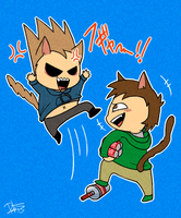Cat fight by Rebe921