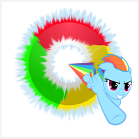 Google Chrome Rainbow Dash ICO by wolfgangthe3rd