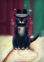 Romantic cat Fellini by Kasimova