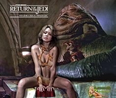 Jessica Alba|Princess Leia Slave|Jabba The Hutt by c-edward