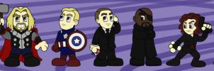 Avengers Chibis by cardinalbiggles