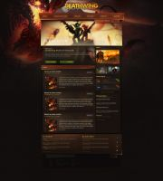 Deathwing WoW Webdesign by Evil-S