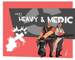 Meet the Heavy and Medic by PaTXiNaKi