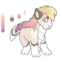 Rainbow Dino POINT AUCTION by SheepishDragon