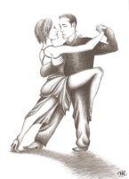 LITTLE TANGO DANCERS by serukian