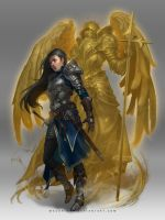 holy warrior : character design by macarious