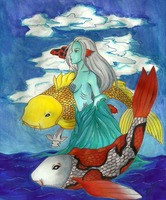Koi Woman by Zephrine