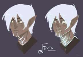Fenris Portrait by DestructorCAT