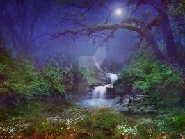 PREMIUM background - Magical Forest3 by Euselia