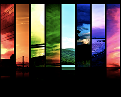 Rainbow of Sunsets 1 by SageFillyLuna