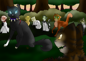 Scourge Vs Tigerstar~A Warrior cats Picture! by Chipgirl555