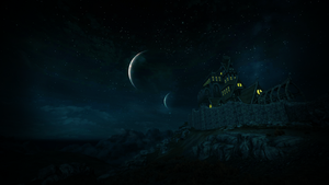 Dragonsreach at Night by xTiiGeR