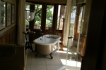 African bathroom with old tub by lomapatta-stock