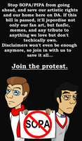 Join Klaine and stop SOPA by ompm