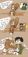 Levi can smile? by Frammur