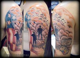 Military Tribute by BrantnerTattoo74