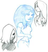 Girls Sketches 01 by WarBrown