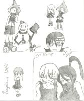 Soul Eater Doodles by Burgerlicious