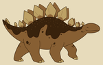 Chocolate Stegosaurus by HappyCrumble