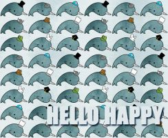 Grunge Narwhals with ...hats by hellohappycrafts