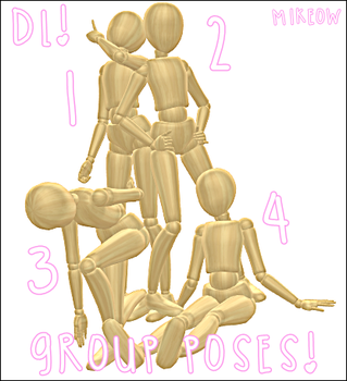 .::MMD::. |Group Poses| .::DL::. by M1keow