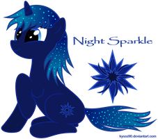 Vector Night Sparkle [OC] by Kyss.S by KyssS90