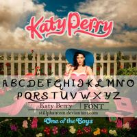 Katy perry one of the boys   Font by StillPhantom