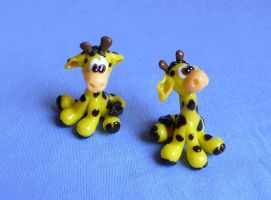 little giraffes by Monocian