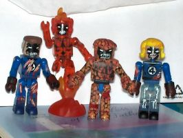 Custom Zombie Fantastic Four by jcastick