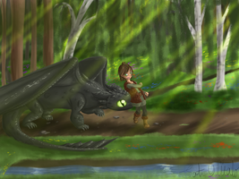 Take it easy Toothless by Sofua