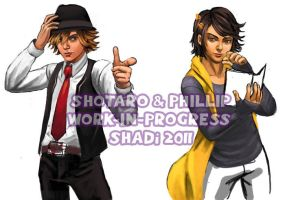 WIP: Shotaro and Phillip by viciousSHADi