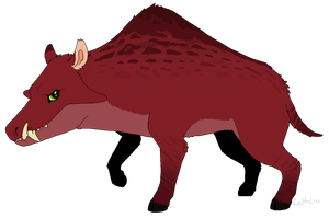 Smudge the Entelodont by Pumpkabooz