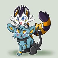 Two Kittens by KasaraWolf
