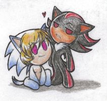 Little Erin and Shadow by Bonka-chan