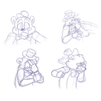 Toy Freddy's reaction by TonyCrynight