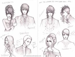 OC Sketches... by mlle-annette