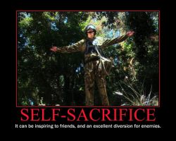 Self-Sacrifice Motivational Poster by QuantumInnovator