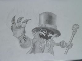 Superb villain veigar portrait by Grodanknorr