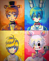 FNAF2 - The NEW Animatronics by StarTheYoshi