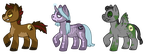 spoopy halloween pone adopts - sold by oceanewolfe