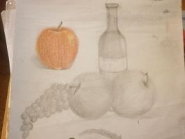fruit and wine sketch by DorkaliciousRisa