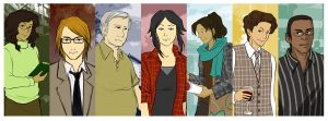 Leaves - characters by Little-Endian
