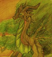 Wooden Dragon by Seleylone