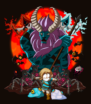 Link and the Lynel by xkappax