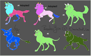 Canine Adoptables Set 5: 4/6 Open! by WarriorCatLuver123