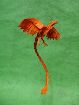 Origami Phoenix by origami-artist-galen