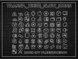 Transp. White Glow Icons by Fleescher01